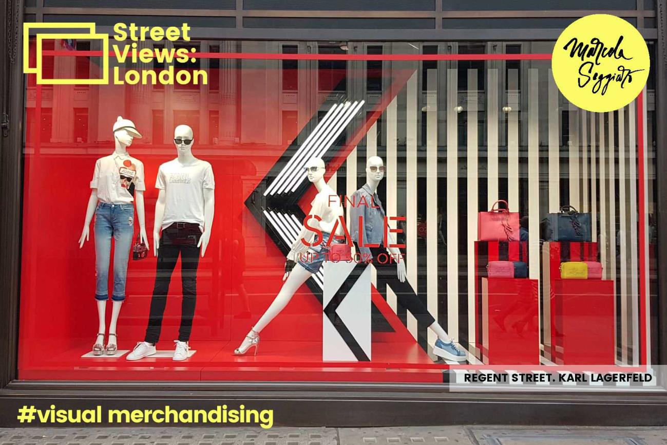 Escaparates Creativos. Regent Street. Karl Lagerfeld. Londres. Marcela Seggiaro